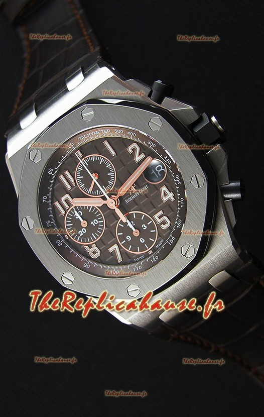 Audemars Piguet Royal Oak Offshore cadran marron chronographe 1:1 Montre Réplique Miroir