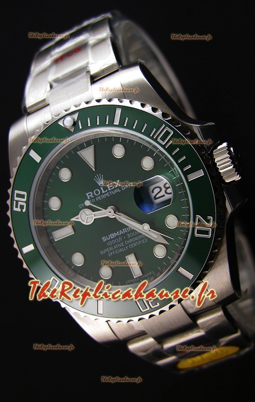 Rolex Submariner The Hulk ETA 3135 Réplique Suisse 1:1 Miroir - Ultime Acier 904L