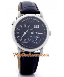 A. Lange & Sohne Lange 1 MoonPhase Leather Montre