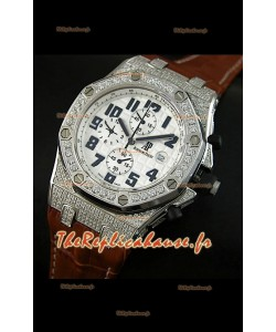 Audemars Piguet Royal Oak Offshore Montre Quartz avec Lunette de Diamants