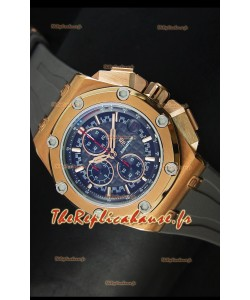 Montre Royal Oak Offshore Michael Schumacher Audemars Piguet avec mouvement à quartz - Or rose