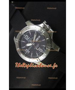 Ball Hydrocarbone Spacemaster avec bracelet en caoutchouc avec date du jour automatique sur cadran noir - mouvement Citizen original