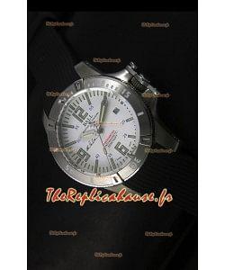 Ball Hydrocarbone Spacemaster automatique avec bracelet en caoutchouc sur cadran blanc - mouvement Citizen original