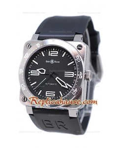 Bell and Ross BR 03 Type Aviation Brushed l'acier Montre Suisse