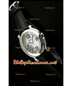 Chopard Happy Sport Femme Montre en Noir Sangle