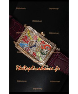 Montre pour femmes Master of Complications Long Island de Franck Muller en or rose