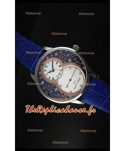 Montre Jaquet Droz Grande Seconde avec cadran paillonné-émaillé Grand Feu bleu