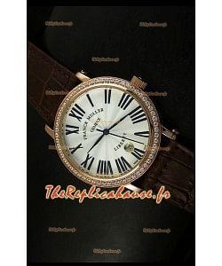 Montre japonaise Franck Muller Master of Complications Liberty sur bracelet brun