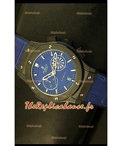 Réplique de montre Quartz japonaise Hublot Classic Fusion Chrono avec cadran bleu