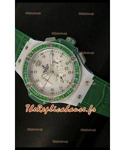 Édition Tutti Frutti pour femmes Hublot Big Bang 34MM avec bracelet vert
