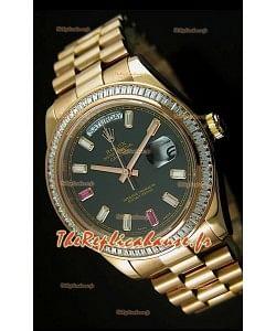 Réplique de montre suisse Rolex Day Date II 41MM - Cadran noir - Réplique de montre miroir 1:1