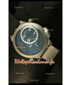 Réplique de montre japonaise Welder K23 Duo Side dans boîtier acier inxoydable