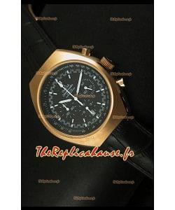 Chronographe coaxial Omega Speedmaster MARK II avec boîtier or rose