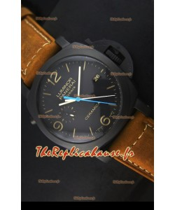 Montre en céramique Panerai Luminor PAM00580 1950 3 Days Chrono Flyback avec mouvement P.9100