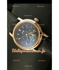 Patek Philippe Complications Tourbillon Reproduction Montre Japonaise en Or Rose