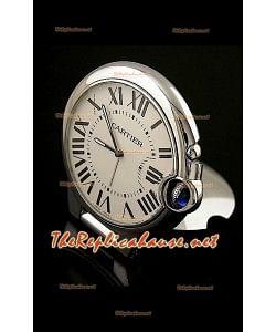 Cartier Travel Pocket Clock avec Mouvements à Quartz Type Ballon De Bleu