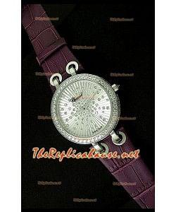 Chopard Xtraveganza Femmes Montre avec Bracelet Violet Boîtier Garnis de Diamants