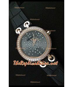 Chopard Xtraveganza Femmes Montre avec Boîtier en Or Rose Garnis de Diamants