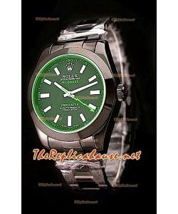 Rolex Pro Hunter Milgauss Swiss Montre avec le Vert Teinté de Saphir
