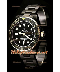 Rolex GMT Masters II Pro Hunter Swiss Montre Bicolore Or et PVD
