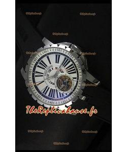 Montre Roger Dubuis Excalibur Tourbillon avec mouvement japonais - Cadran blanc