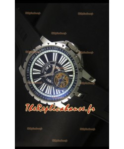 Montre Roger Dubuis Excalibur Tourbillon avec mouvement japonais - Cadran noir