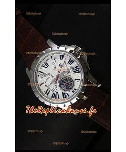 Montre Roger Dubuis Excalibur Calendar avec cadran blanc