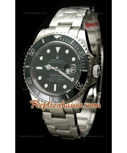 Rolex Submariner Green Dial Japanese Montre avec Fermoir Glidelock