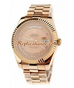 Rolex Replique Day Date Pink d' or Montre Suisse
