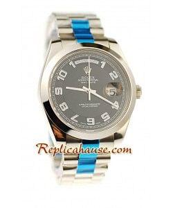 Rolex Replique Day Date II Silver Montre Suisse - 41MM