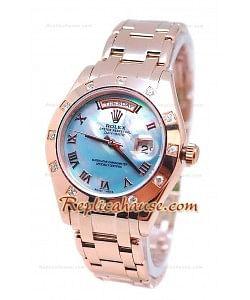 Rolex Day Date Bleu Perle Cadran Montre Suisse