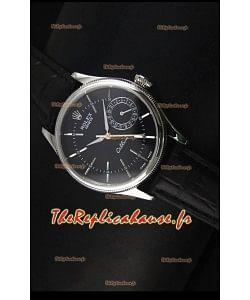 Réplique de montre suisse Rolex Cellini Date 50519 avec cadran noir