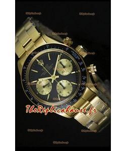 Cosmographe Rolex Daytona 6265 avec cadran noir dans boîtier or