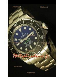 Montre suisse à cadran bleu Rolex Sea Dweller Deepsea