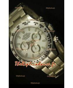 Réplique de montre cosmographe Daytona Rolex avec lunette blanche en céramique