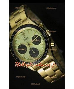 Cosmographe Rolex Daytona 6263 avec cadran métallique dans boîtier or