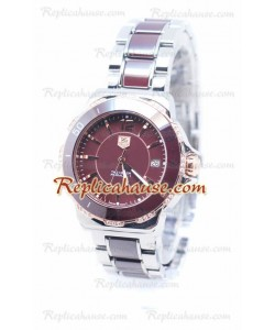 Tag Heuer Formula 1 Quartz Brown Ceramic Rose Gold Bezel with Diamonds Montre
