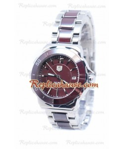 Tag Heuer Formula 1 Quartz Brown Ceramic Bezel Steel Montre