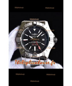 Breitling Avenger II GMT montre réplique suisse en acier 1:1 montre réplique suisse ultime