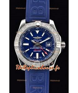 Breitling Avenger II montre suisse en acier GMT 1:1 Edition ultime - cadran bleu