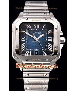 Cartier Santos De Cartier XL montre réplique à miroir 1:1 en acier inoxydable de 40 mm