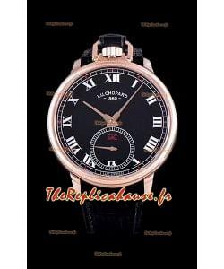 Chopard Louis-Ulysse L'hommage montre suisse en or rose cadran noir