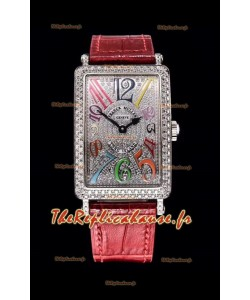 Franck Muller Long Island Color Dreams montre suisse pour les dames avec bracelet rose
