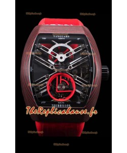 Franck Muller Vanguard Skeleton Tourbillon carbone rouge suisse réplique montre
