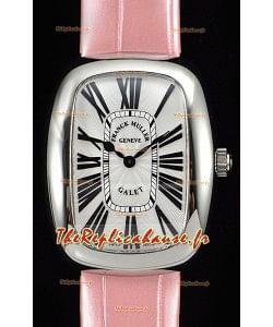 Franck Muller Galet Quartz montre réplique suisse pour les dames bracelet rose