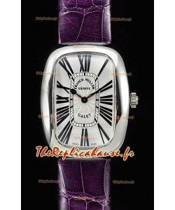 Franck Muller Galet Quartz montre suisse pour les dames bracelet violet