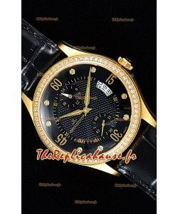Jaeger LeCoultre Master Control montre réplique suisse en or jaune