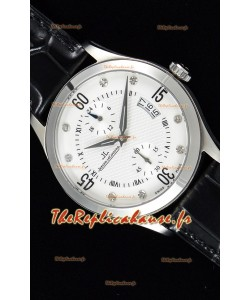 Jaeger leCoultre Master Control montre réplique suisse en acier inoxydable