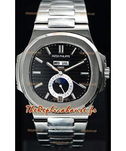 Patek Philippe Nautilus 5726A montre suisse à miroir 1:1 en cadran noir