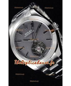 Rolex Milgauss LABELNOIR Tourbillon montre réplique suisse avec boîtier en acier